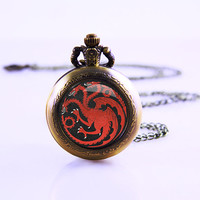 Game Of thrones Watch Necklace ,inspired dome necklace ,new year gift