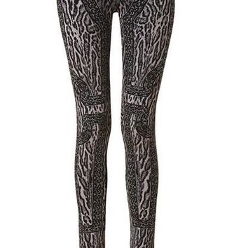 Cheetah Print Bandage Leggings