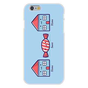 Apple iPhone 6 Custom Case White Plastic Snap On - 'Home Sweet Home' Candy Houses