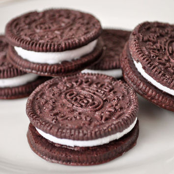 Oreo Cookie Soaps - creme filled sandwich cookie - novelty soap - Chocolate