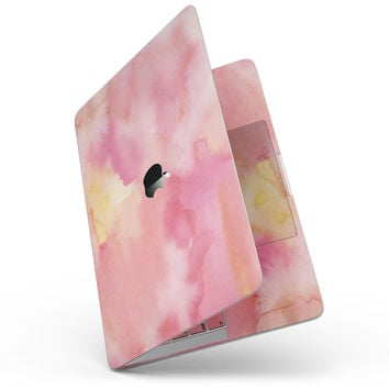 Pinkish 4122 Absorbed Watercolor Texture - MacBook Pro without Touch Bar Skin Kit