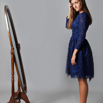 New Years, Holiday Gala, Holiday Party, formal dress, Gossip Girl, Revenge, Emily Thorn, Mad Tea Party~Here Comes the Night (Lace dress)