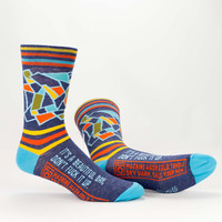 Blue Q Socks - Men's It's a Beautiful Day, Don't Fuck it Up