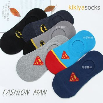 Avengers Infinity War Superman Batman cos socks shallow mouth thin cotton men's Unisex sock Spring summer Invisible funny happy