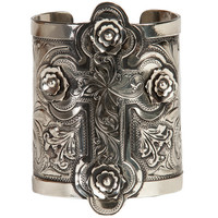 Women's Gypsy Soule Burnished Silver Rosy Cross Bracelet