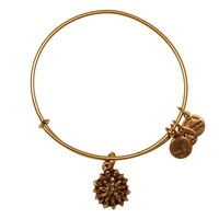 Alex and Ani Water Lily Charm Bangle - Russian Gold