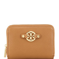 Amanda Zip-Around Coin Case, Royal Tan - Tory Burch - Royal tan