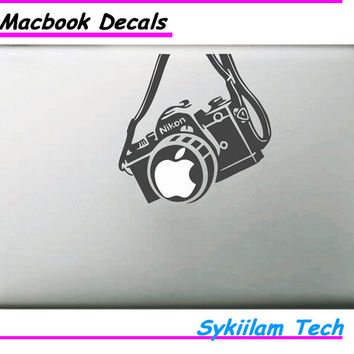 Famous Brand Camera for apple Logo Sticker for Macbook Skin Air 11 12 13 Pro 13 15 17 Retina Laptop Computer Wall Vinyl Decal