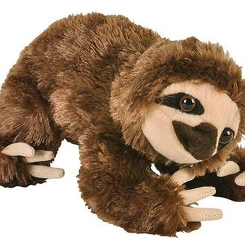 8 Inch Sloth Brown Stuffed Animal Plush Floppy Zoo Species Collection