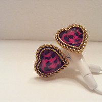 Gold and Pink Wild at Heart Earbuds