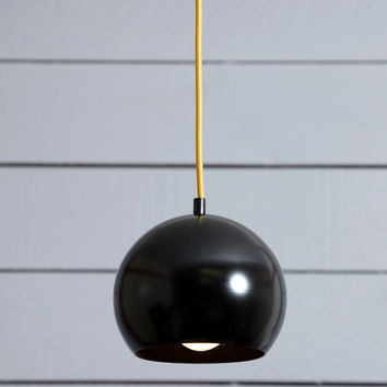 Eye Ball Pendant Light - Black Mid Century Lamp