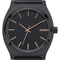 Nixon 'The Time Teller' Leather Strap Watch, 37mm | Nordstrom