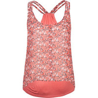 FULL TILT Ditsy Knit To Woven Womens Tank 203949313 | Tanks & Camis | Tillys.com