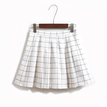 FASHION CHECKERED SKIRTS