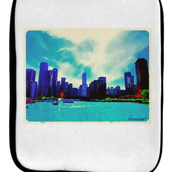 Chicago Skyline Watercolor 9 x 11.5 Tablet  Sleeve by TooLoud