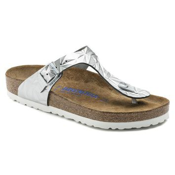Sale Birkenstock Gizeh Soft Footbed Leather Spectral Silver 1008463/1008464 Sandals