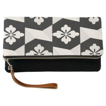 Black White Tiles Clutch