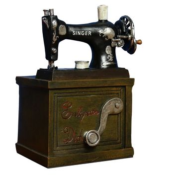 Vintage Sewing Machine Wine Holder