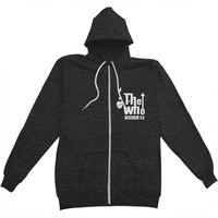 Who Men's  Maximum R&B Zippered Hooded Sweatshirt Black