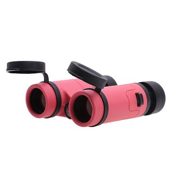 Children Binoculars Colored Toy Birthday Presents Students Telescope Kids Plastic Glass Lens Telescope Pink Blue