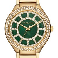 Women's MICHAEL Michael Kors 'Kerry' Crystal Accent Bracelet Watch, 38mm - Gold/ Olive