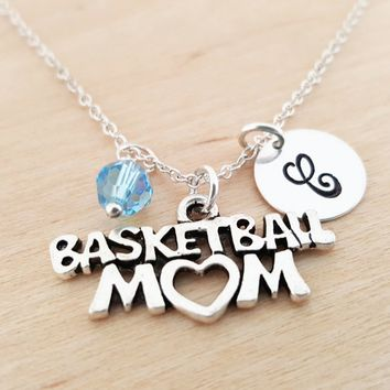 Basketball Mom Charm - Personalized Sterling Silver Necklace