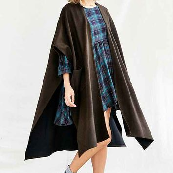 Urban Renewal Remade Patch Pocket Ruana Poncho