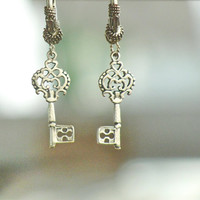 Key Earrings Steampunk jewelry Each Key Holds a Treasure