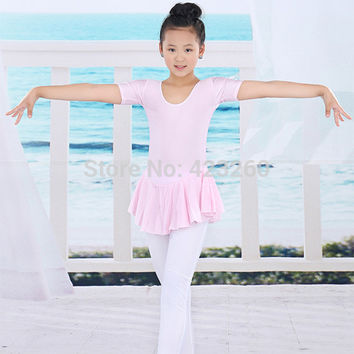 2-14Y Children Ballet Tutu Leotard Soft dresses Toddler Girl Gymnastics Dance Dress