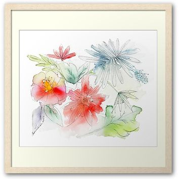 'Flowers in my garden' Framed Print by juliagrifol