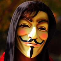 V for Vendetta Mask Guy Fawkes Anonymous  Costume (White/Yellow) 2 Colors 1pcs/lot