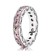 PANDORA Ring - Sterling Silver & Cubic Zirconia Pink Infinity