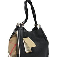 Burberry Women's Small Canter in and House Check Black Beige
