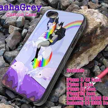 Batman riding Robot Unicorn _ iphone case iphone 4/4s,5/5s,5c, Samsung S3,S4 Case Accesories Design By : sashagreystore