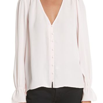 Joie Bolona Silk Gathered Sleeve Top | Nordstrom