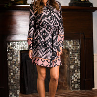 Wonderful Now Dress, Black/Taupe