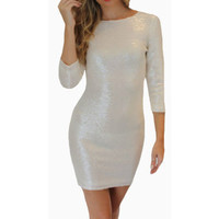 Sequin Dress 2016 Spring and Autumn Dress Women Slim Vestido Lentejuelas Invierno Mini Women Glitter Bodycon Sexy Dresses