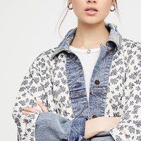 Ditsy Denim Jacket