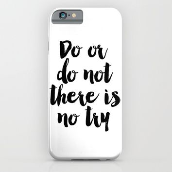 Do Or Do Not There Is No Try - Yoda - Inspirational Quote - Dictionary Print Book Art Print iPhone & iPod Case by PrintableLifeStyle