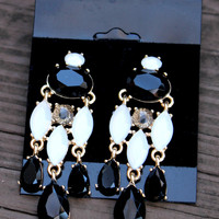 Multi Black Chandelier Earrings