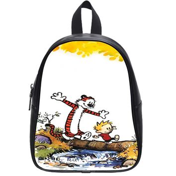 Cartoon Comic Calvin And Hobbes School Backpack Small