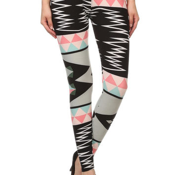 Always Women's Funky Patterned Printed Full Length Leggings