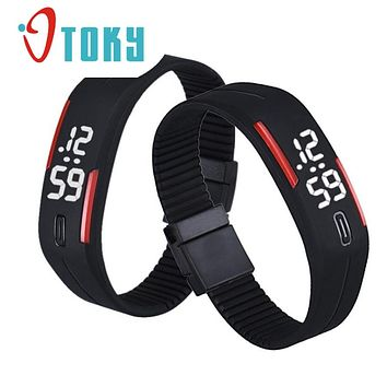 OTOKY Willby Mens Womens Unisex Candy Color Rubber LED Watch Date Sports Bracelet Digital Wrist Watches 161221 Drop Shipping