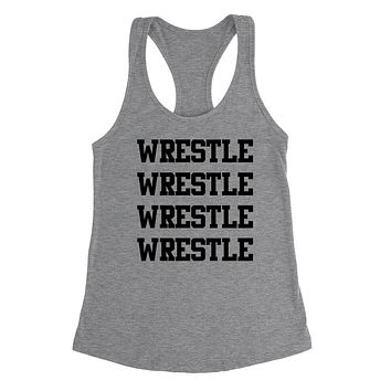 Wrestle, gift for wrestler, sport gifts, game day, team Ladies Racerback Tank Top
