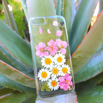 Dried Flowers iPhone 4 4s Case - Pink Flower iPhone 5 5s  - Pressed Flower iPhone 5c Case - Floral iPhone 6 case - Daisy iPhone 6 Plus Case