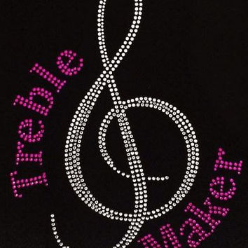 Rhinestone Treble Maker Music T-Shirt - Bling Shirt