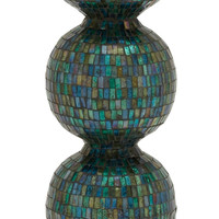 Stunning Metal Mosaic Candle Holder