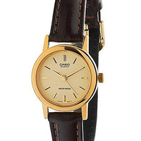 LTP1095Q-9ACasio Brown Leather Ladies Analog Watch