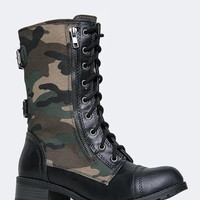 CAMOUFLAGE COMBAT BOOT