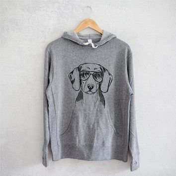 Jake the Beagle - Grey French Terry Hooded Sweatshirt